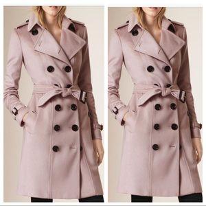 Burberry Sandringham cashmere trench coat jacket